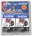 BROTHER LC41BK2PKS Bk Ink 2Pk