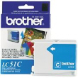 BROTHER LC51C Cy Ink Ctg 400 Yld