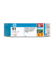 HP C9482A 91 Lt Gy Ink 3Pk